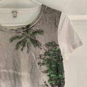 J. Crew Linen Collector Graphic Tee size Small ☀️